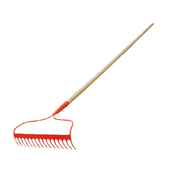 48 in long wooden handle bow rake HLR101-16L